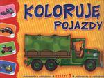 Koloruję pojazdy. Zeszyt 3. Malowanka z naklejkami w sklepie internetowym Booknet.net.pl