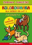 Kolorowanka. Zwierzęta. Zabawa i naklejki (od lat 3) w sklepie internetowym Booknet.net.pl