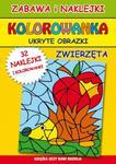 Kolorowanka. Ukryte obrazki. Zwierzęta. Zabawa i naklejki w sklepie internetowym Booknet.net.pl