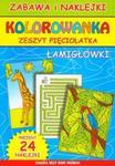Kolorowanka zeszyt pięciolatka. Łamigłówki w sklepie internetowym Booknet.net.pl