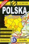 Polska mapa samochodowo administracyjna 1:2 000 000 w sklepie internetowym Booknet.net.pl