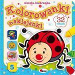 Kolorowanki naklejanki. Wesoła biedronka. 32 naklejki w sklepie internetowym Booknet.net.pl