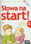 Słowa na start 4 Język polski Podręcznik do kształcenia językowego część 1 w sklepie internetowym Booknet.net.pl