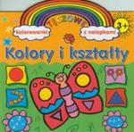 Kolory i kształty Tęczowe kolorowanki z nalepkami w sklepie internetowym Booknet.net.pl