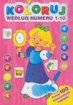 Koloruj według numeru 1-10 Księżniczka w sklepie internetowym Booknet.net.pl
