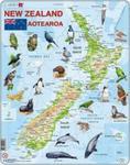 Nowa Zelandia mapa ze zwierzętami w sklepie internetowym Booknet.net.pl