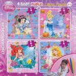 Puzzle Baby 4 Disney Księżniczki + mazaki w sklepie internetowym Booknet.net.pl