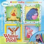 Puzzle Baby 4 Colour Kubuś Puchatek + flamastry w sklepie internetowym Booknet.net.pl