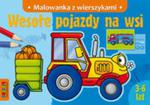 Wesołe pojazdy na wsi malowanka z wierszykami w sklepie internetowym Booknet.net.pl