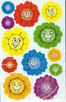 Naklejki na błyszczącym papierze Buźki kwiaty w sklepie internetowym Booknet.net.pl