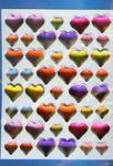 Naklejki folia 3D serca w sklepie internetowym Booknet.net.pl