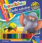 Kredki szkolne Bambino trójkątne 24 kolory w sklepie internetowym Booknet.net.pl