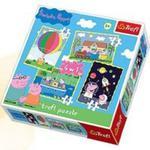 Puzzle 4w1 mix Przygody Peppy w sklepie internetowym Booknet.net.pl