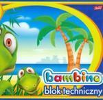 Blok techniczny Bambino 10 kartek A4 dinozaur w sklepie internetowym Booknet.net.pl
