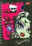 Notes spiralny Monster High A6 wzory w sklepie internetowym Booknet.net.pl