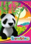 Zeszyt Bambino w kratkę 16 stron A5 panda różowa w sklepie internetowym Booknet.net.pl