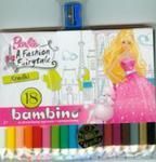 Kredki Bambino drewniane 18 kolorów z temperówką Barbie w sklepie internetowym Booknet.net.pl