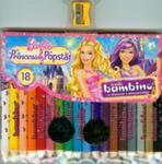 Kredki Bambino drewniane 18 kolorów z nadrukiem z temperówką Barbie w sklepie internetowym Booknet.net.pl