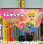 Kredki Bambino drewniane 18 kolorów z nadrukiem z temperówką Disney Wróżki w sklepie internetowym Booknet.net.pl