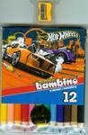 Kredki bambino drewniane 12 kolorów + temperówka Hot Wheels w sklepie internetowym Booknet.net.pl