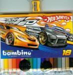 Kredki bambino drewniane 18 kolorów z temperówką Hot Wheels w sklepie internetowym Booknet.net.pl
