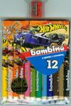 Kredki bambino drewniane 12 kolorów z nadrukiem z temperówką Hot Wheels w sklepie internetowym Booknet.net.pl