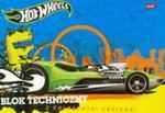 Blok techniczny Hot Wheels A4 z kolorowymi kartkami 10 kartek niebieski w sklepie internetowym Booknet.net.pl