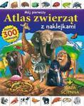 Mój pierwszy atlas zwierząt z naklejkami + mapa ścienna. Ponad 300 naklejek w sklepie internetowym Booknet.net.pl