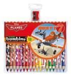 Kredki Bambino drewniane 18 kolorów + temperówka Planes w sklepie internetowym Booknet.net.pl