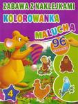 Kolorowanka malucha z naklejkami cz. 4 Fioletowa w sklepie internetowym Booknet.net.pl