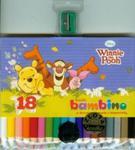 Kredki Bambino drewniane 18 kolorów z temperówką Kubuś Puchatek w sklepie internetowym Booknet.net.pl