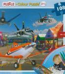 Puzzle dwustronne 2w1 108 elementów Planes w sklepie internetowym Booknet.net.pl