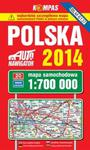 Polska 2014 Mapa samochodowa 1:700 000 w sklepie internetowym Booknet.net.pl