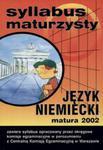 Syllabus maturzysty Język niemiecki matura 2002 w sklepie internetowym Booknet.net.pl