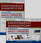 KWESTIONARIUSZ DIAGNOSTYCZNY zaburzeń mowy ze szczególnym uwzględnieniem afazji i dysartrii dla młodzieży i dorosłych + CD w sklepie internetowym Booknet.net.pl
