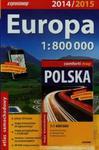Atlas samochodowy Europa 1:800 000 + laminowana mapa samochodowa Polski 1:1 400 000 w sklepie internetowym Booknet.net.pl