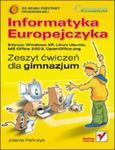 Informatyka Europejczyka. Gimnazjum. Zeszyt ćwiczeń (Windows XP, Linux Ubuntu, MS Office 2003) w sklepie internetowym Booknet.net.pl