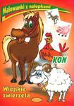 Koń. Wiejskie zwierzęta. Malowanki z nalepkami w sklepie internetowym Booknet.net.pl