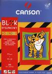 Blok rysunkowy A4 Canson z kolorowymi kartkami 10 kartek Tygrys w sklepie internetowym Booknet.net.pl