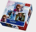 Puzzle 3w1 FROZEN w sklepie internetowym Booknet.net.pl