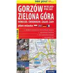 Plan miasta Gorzów Wielkopolski, Zielona Góra, Zielona Góra Nowa Sól, Świebodzin, 1:15 000 papierowa w sklepie internetowym Booknet.net.pl