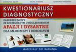 Kwestionariusz diagnostyczny zaburzeń mowy ze szczególnym uwzględnieniem afazji i dysartrii dla młodzieży i dorosłych w sklepie internetowym Booknet.net.pl
