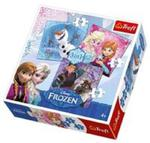 Puzzle 3w1 Frozen Bohaterowie z Krainy Lodu w sklepie internetowym Booknet.net.pl