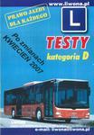 Prawo jazdy dla każdego - testy. Kategoria D w sklepie internetowym Booknet.net.pl