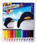 Kredki Bambino drewniane 12 kolorów Mini zoo w sklepie internetowym Booknet.net.pl