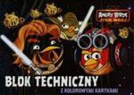 Blok techniczny A4 Angry Birds z kolorowymi kartkami 10 kartek w sklepie internetowym Booknet.net.pl
