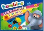 Zeszyt papierów kolorowych samoprzylepnych B4 Bambino 8 kartek w sklepie internetowym Booknet.net.pl