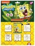 Pieczątki Blister Spongebob 5 sztuk w sklepie internetowym Booknet.net.pl