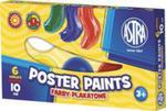 Farby plakatowe Astra 6 kolorów - 10 ml w sklepie internetowym Booknet.net.pl