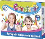 Farby do malowania palcami 4 kolory 50 ml Creativo w sklepie internetowym Booknet.net.pl